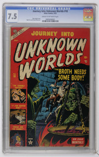 Journey Into Unknown Worlds #18 (Atlas, 1953) CGC VF- 7.5 Cream to off-white pages. Horror stories. Russ Heath cover. Ma...