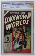 Silver Age (1956-1969):Horror, Journey Into Unknown Worlds #52 Circle 8 pedigree (Atlas, 1956) CGCVF+ 8.5 White pages. Joe Maneely cover. Dick Ayers, Paul...
