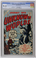 Golden Age (1938-1955):Horror, Journey Into Unknown Worlds #55 Circle 8 pedigree (Atlas, 1957) CGCNM- 9.2 Off-white to white pages. Bill Everett cover. Do...
