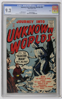 Journey Into Unknown Worlds #55 Circle 8 pedigree (Atlas, 1957) CGC NM- 9.2 Off-white to white pages. Bill Everett cover...