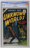 Silver Age (1956-1969):Horror, Journey Into Unknown Worlds #57 Circle 8 pedigree (Atlas, 1957) CGCVF+ 8.5 White pages. Joe Orlando art. Overstreet 2006 VF...