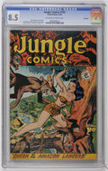 Golden Age (1938-1955):Adventure, Jungle Comics #102 Rockford pedigree (Fiction House, 1948) CGC VF+8.5 Off-white pages. John Celardo cover and art. Matt Bak...