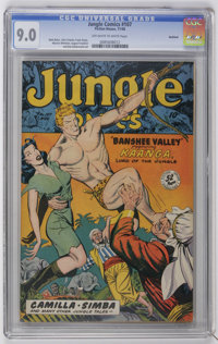Jungle Comics #107 Rockford pedigree (Fiction House, 1948) CGC VF/NM 9.0 Off-white to white pages. Art by Matt Baker, Jo...
