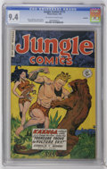 Golden Age (1938-1955):Adventure, Jungle Comics #115 Rockford pedigree (Fiction House, 1949) CGC NM 9.4 Off-white to white pages. Art by Maurice Whitman and H...