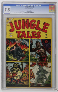Jungle Tales #2 (Atlas, 1954) CGC VF- 7.5 White pages. Art by John Romita, George Tuska, and Joe Maneely. Currently the...