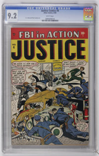 Justice Comics #4 (Atlas, 1948) CGC NM- 9.2 White pages. C. C. Beck and Pete Costanza art. Only copy on the current CGC...