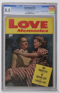 """Golden Age (1938-1955):Romance, Love Memories #1 Davis Crippen (""""D"""" Copy) pedigree (Fawcett, 1949)CGC VF+ 8.5 Off-white to pages. Photo cover. Overstreet 2..."""