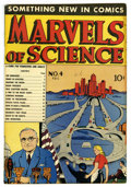 "Golden Age (1938-1955):Non-Fiction, Marvels of Science #4 Davis Crippen (""D"" Copy) pedigree (Charlton,1946) Condition: FN/VF. Overstreet 2006 FN 6.0 value = $4..."