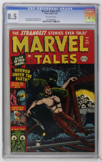 Marvel Tales #111 (Atlas, 1953) CGC VF+ 8.5 Off-white pages. Bill Everett cover. Jerry Robinson and Jack Abel art. Overs...