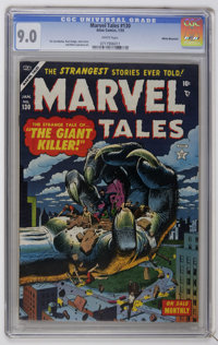 Marvel Tales #130 White Mountain pedigree (Atlas, 1955) CGC VF/NM 9.0 White pages. Russ Heath cover. Highest CGC grade f...