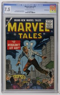 Marvel Tales #142 White Mountain pedigree (Atlas, 1956) CGC VF- 7.5 Off-white to white pages. Bernie Krigstein, Paul Rei...