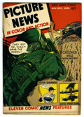 "Golden Age (1938-1955):Non-Fiction, Picture News #9 Davis Crippen (""D"" Copy) pedigree (Lafayette StreetCorp., 1946) Condition: VF. Atom Bomb story. ""Crooked Mi..."