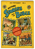 """Golden Age (1938-1955):Religious, Picture Stories from the Bible Old Testament #1 Davis Crippen (""""D""""Copy) pedigree (EC, 1946) Condition: VF. Overstreet 2006 ..."""
