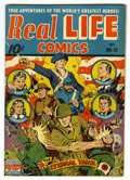 "Golden Age (1938-1955):War, Real Life Comics #13 Davis Crippen (""D"" Copy) pedigree (NedorPublications, 1943) Condition: VF. Alex Schomburg cover. Overs..."