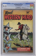 Golden Age (1938-1955):Western, Real Western Hero #70 Crowley Copy pedigree (Fawcett, 1948) CGC VF+ 8.5 Cream to off-white pages. First issue of the new tit...