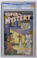 "Golden Age (1938-1955):Crime, Super-Mystery Comics V8#5 Davis Crippen (""D"" Copy) pedigree (Ace, 1949) CGC VF+ 8.5 Off-white pages. Sid Greene, Mort Meskin..."