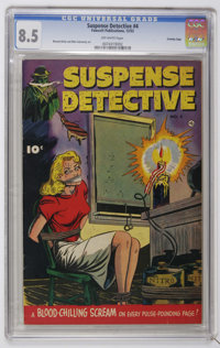Suspense Detective #4 Crowley Copy pedigree (Fawcett, 1952) CGC VF+ 8.5 Off-white pages