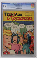 "Golden Age (1938-1955):Romance, Teen-Age Romances #1 Davis Crippen (""D"" Copy) pedigree (St. John,1949) CGC FN/VF 7.0 Cream to off-white pages. Matt Baker c..."
