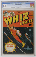 Golden Age (1938-1955):Superhero, Whiz Comics #69 File Copy - Crowley Copy pedigree (Fawcett, 1945) CGC VF 8.0 Cream to off-white pages. Featuring Captain Mar...