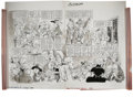 """Original Comic Art:Panel Pages, Mort Drucker - Mad Special #19, Complete 2-page Story """"A Madde Peek Behind the Scenes at the Continental Congress"""" Original Ar..."""