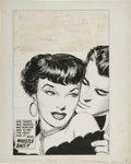 Original Comic Art:Covers, Hi-School Romance #54 Cover Illustration Original Art (Harvey,1949). She teased and taunted... and now she had to pay the p...