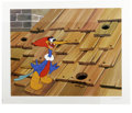 "Animation Art:Limited Edition Cel, ""Rooftop Woody Woodpecker"" Hand Painted Cel #200/200 Original Art(Walter Lantz Productions, 1991). Woody bursts from a hole..."