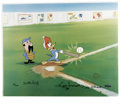 "Animation Art:Limited Edition Cel, ""Woody Gets a Hit"" Limited Edition Hand Painted Cel #53/200Original Art (Walter Lantz Productions, 1992). Hand painted limi..."