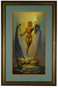 "Boris Vallejo - ""Minerva"" Painting Original Art (1989). From Roman Mythology, Minerva is the Goddess of Wisdom..."