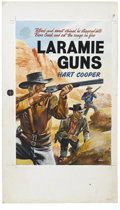 """Original Comic Art:Covers, """"Laramie Guns"""" British Paperback Cover (undated). Westernbushwhacking action is the focus of this rapid-fire cover painted..."""