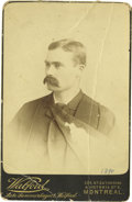 Basketball Collectibles:Others, 1890 James Naismith Cabinet Photograph. Stirring studio portrait captures the sporting legend just before he would change t...