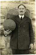 Basketball Collectibles:Others, 1920's James Naismith Photographs Lot of 3. Trio of photographicportraits includes a fine image of Naismith posing with a ...