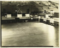 """Basketball Collectibles:Others, 1920's University of Kansas Basketball Court Photographs with Naismith Handwritten Notes. Pair of vintage 8x10"""" photos offe..."""