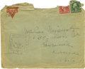 Basketball Collectibles:Others, 1917 James Naismith Signed Mailing Envelope.. Text: Mrs. James Naismith, 1635 Mass St., Lawrence, Kans., U.S.A.. Postmar...