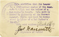 Basketball Collectibles:Others, 1917-19 James Naismith Signed YMCA Identification Card. Excitingartifact is the identification provided to Naismith by the...