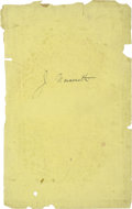 """Basketball Collectibles:Others, James Naismith Signed Book Page. Blank page removed from bookoffers early """"J. Naismith"""" autograph. Black fountain pen ink..."""