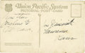 Basketball Collectibles:Others, James Naismith Handwritten & Signed Postcard. Unmailed postcardpicturing the Continental Divide at the Rocky Mountain Nati...