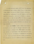 Basketball Collectibles:Others, 1917 James Naismith Signed Typed Speech with Handwritten Notes re: Prostitution. Eleven typed pages with scattered handwrit...