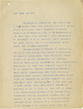 Basketball Collectibles:Others, 1910's-20's James Naismith Typed Speeches with Handwritten Notesre: Roosevelt, Motherhood. Trio of typed speeches that wer...