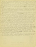 "Basketball Collectibles:Others, 1920's James Naismith Typed Manuscript with Handwritten Notes re: ""Raids on Paris."" During the period of 1917-18 that Dr. N..."