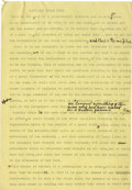 "Basketball Collectibles:Others, 1920's James Naismith Typed Speeches with Handwritten Notes re:Religion, Athletics. Two speeches by Dr. Naismith on ""Relig..."