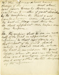 Basketball Collectibles:Others, James Naismith Handwritten Notes re: Importance of Referees. Sixpages of handwritten notes and tabulations address the off...