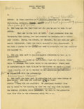 Basketball Collectibles:Others, Early 1930's James Naismith Radio Interview Transcripts With Handwritten Notes. Three separate documents are offered here, ...