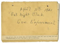 Basketball Collectibles:Others, 1930's James Naismith Typed Speeches with Handwritten Notes re: LawEnforcement, Athletics. Pair of typed speeches was craf...