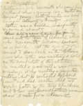 Basketball Collectibles:Others, 1930's James Naismith Handwritten Autobiography. Five handwrittenpages in 9+/10 pencil offer a brief accounting of Dr. Nai...