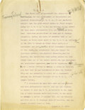 Basketball Collectibles:Others, 1930's James Naismith Typed Manuscript with Handwritten Notes re:YMCA Basketball. Ten typed pages with numerous handwritte...