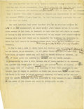 "Basketball Collectibles:Others, 1930's James Naismith Typed & Handwritten Notes re: IndoorLacrosse. ""...While no bones were broken, faces were scarred and..."