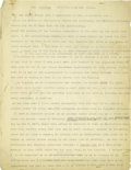 Basketball Collectibles:Others, 1930's James Naismith Typed Manuscript with Handwritten Notes re:YMCA. Twelve typed pages with light handwritten notations...