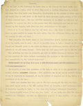"""Basketball Collectibles:Others, 1930's James Naismith Typed Manuscript with Handwritten Notes re:Medicine. Very rare medical treatise by Dr. Naismith on """"..."""