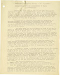 Basketball Collectibles:Others, 1930's James Naismith Typed Manuscript with Handwritten Notes re: Sex and Health. Over twenty typed pages with numerous han...