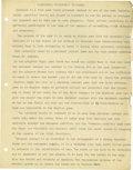 Basketball Collectibles:Others, 1930's James Naismith Typed Manuscript with Handwritten Page re:Football. Three typed pages regards the sport of football,...